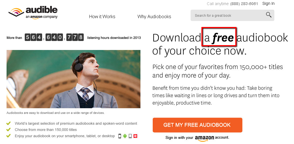 Promo code for audible com
