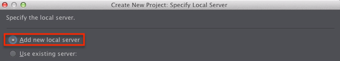 PhpStorm add new local server